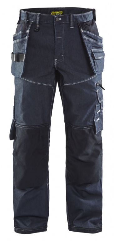 Blaklader 1960 Stretch Cordura Denim Craftsman Trousers X1900 - 19601141 (Navy/Black)